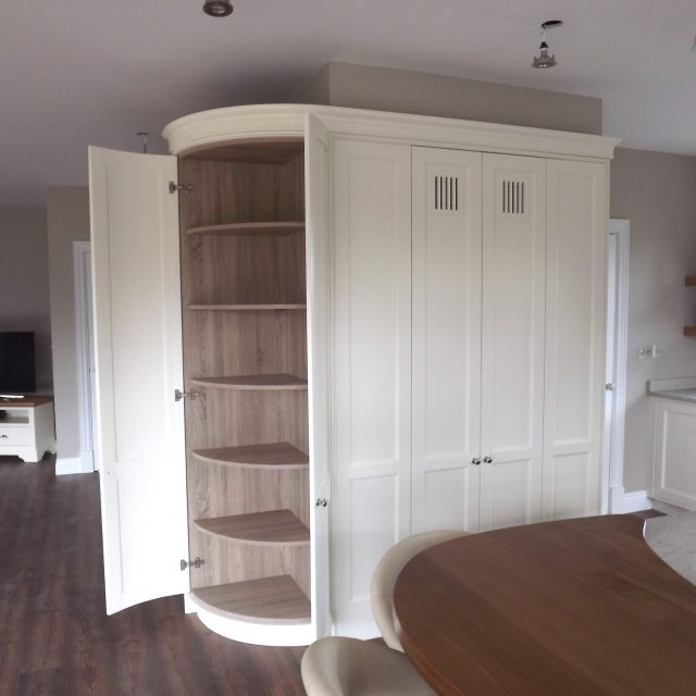 Limed white and Walnut